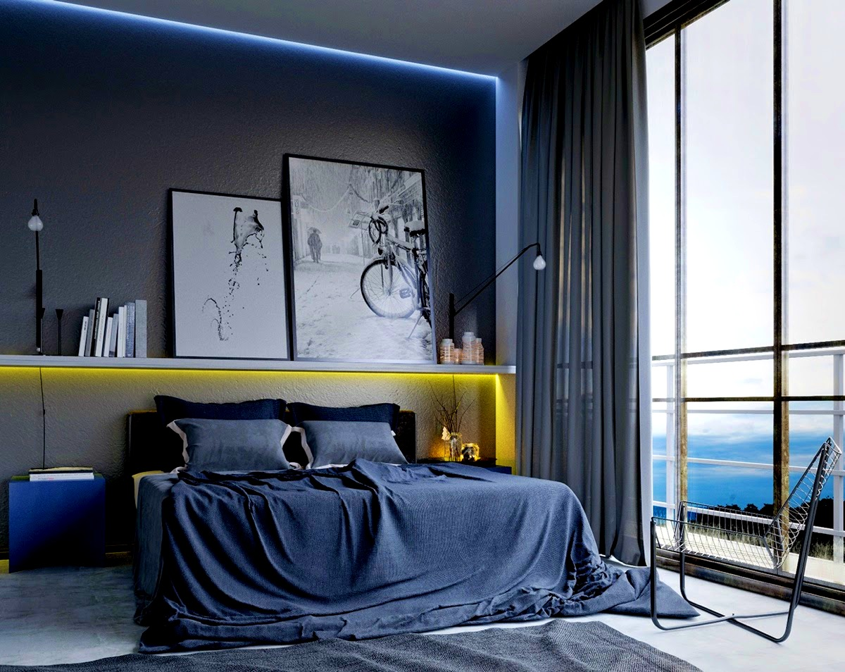 Image of: Masculine Bedroom Colors