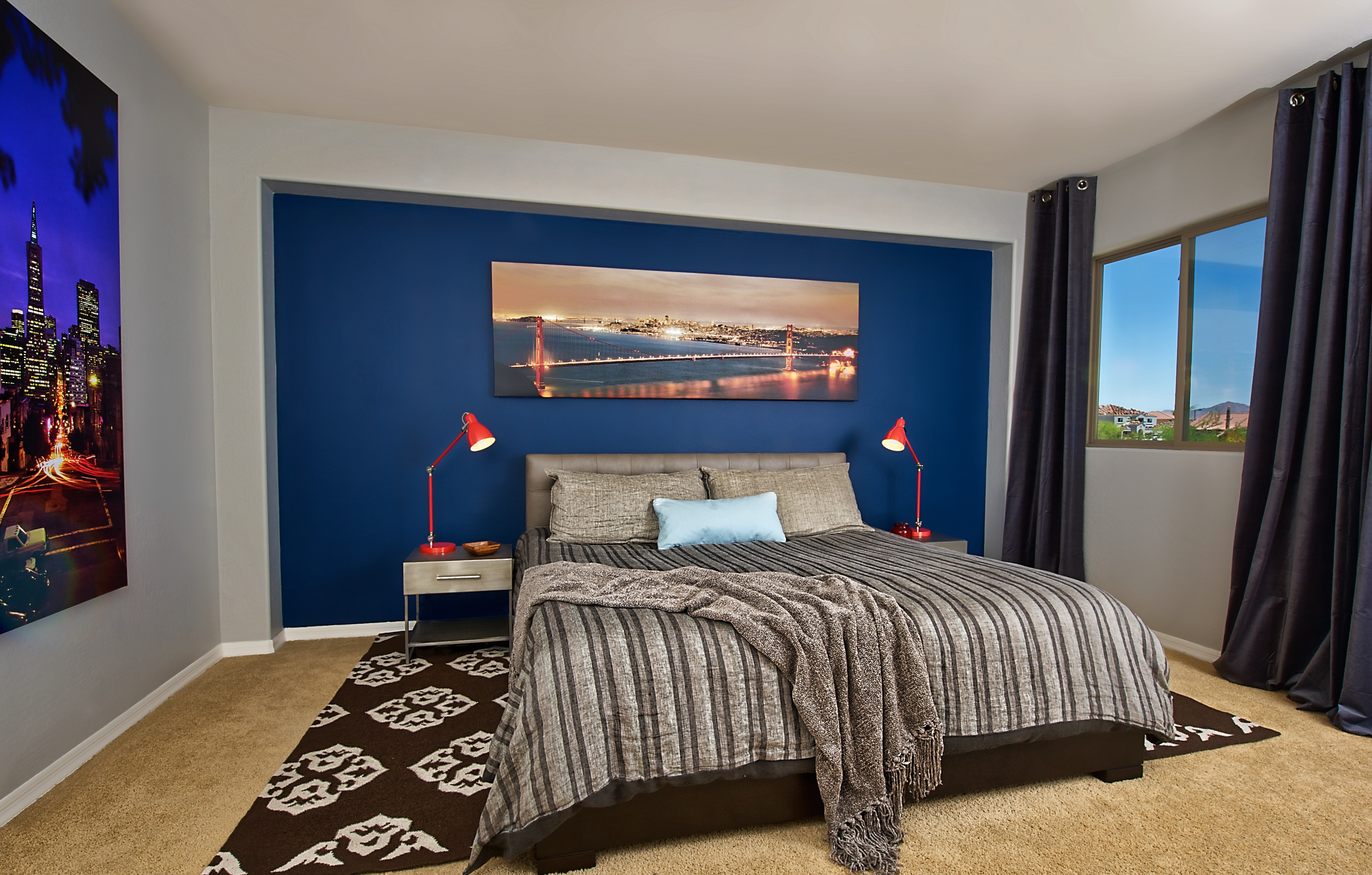Image of: Masculine Bedroom Wall Colors