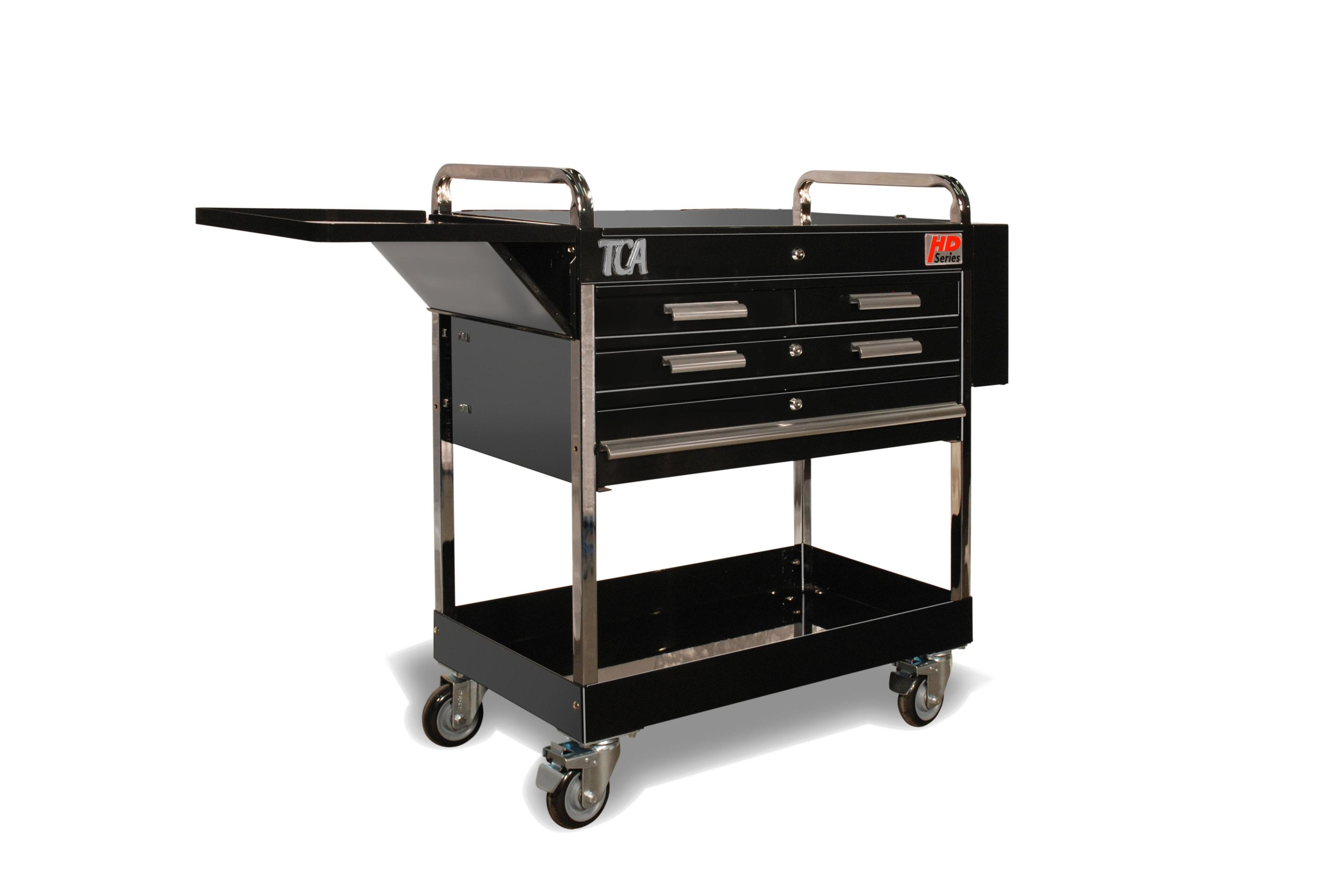 Image of: Metal Rolling Cart With Drawers