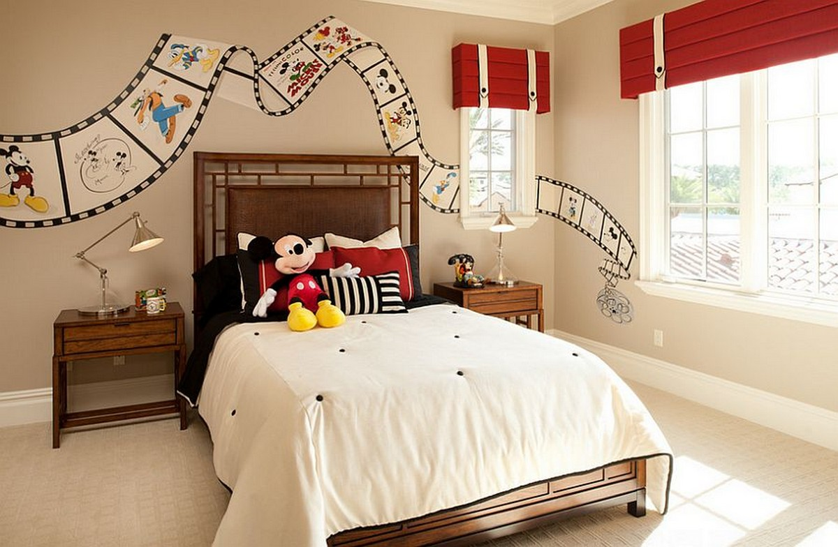 Mickey Mouse Bed Decor