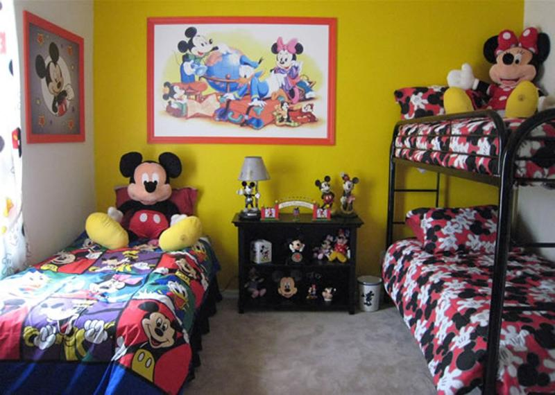 Image of: Mickey Mouse Bedroom Design