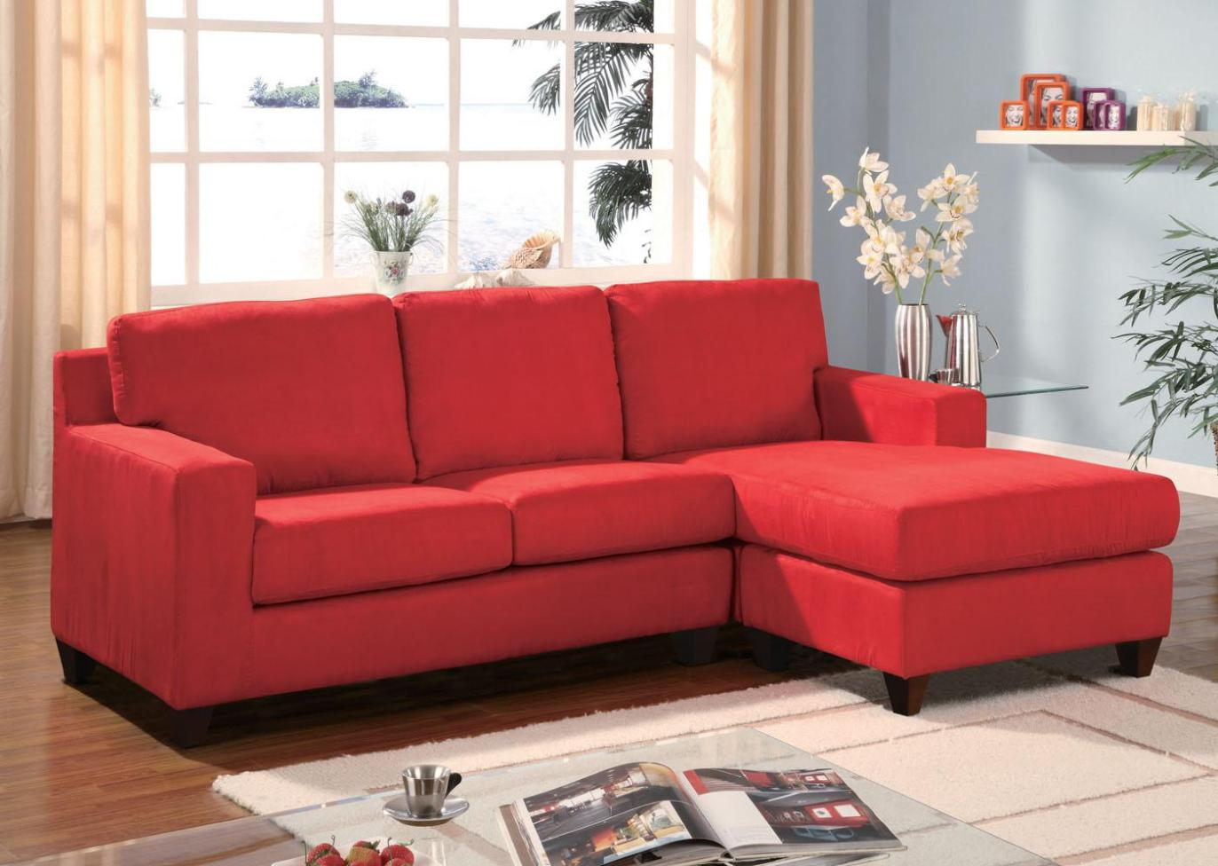 Image of: Microfiber Reclining Sectional Couch