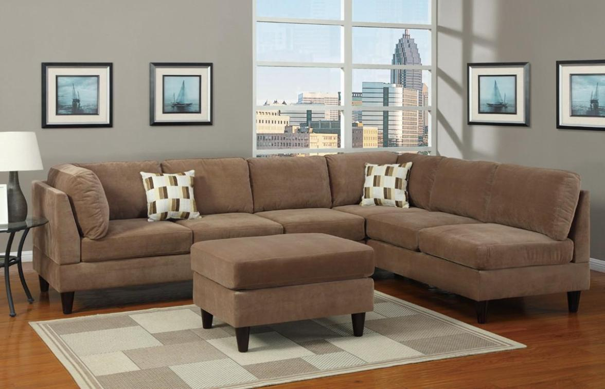 Image of: Microfiber Sectional Couch Ideas