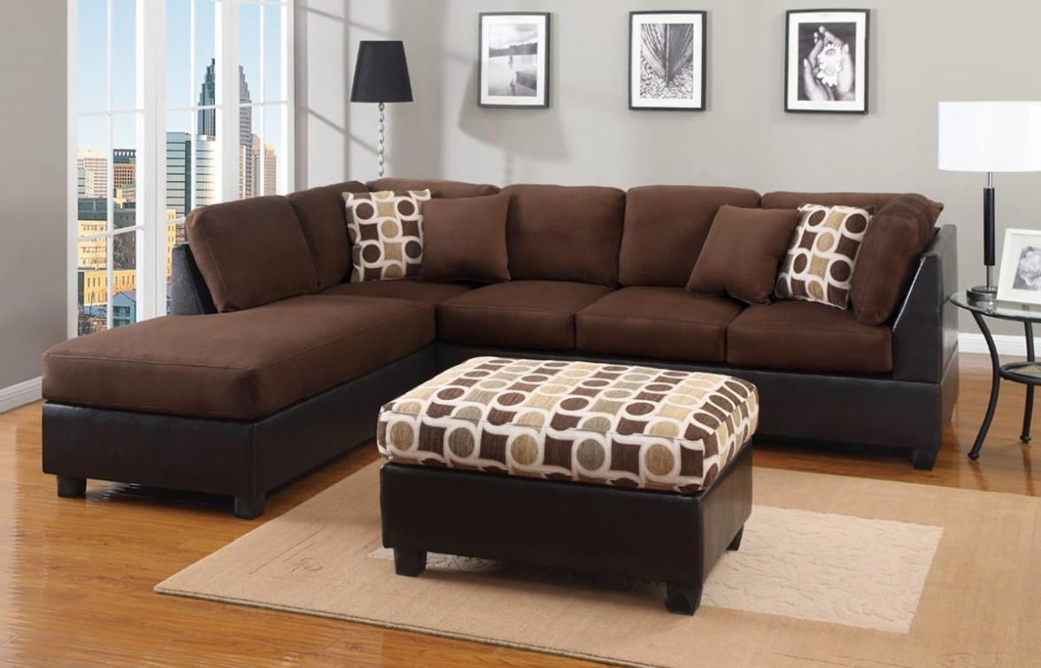 Image of: Microfiber Sectional Couches