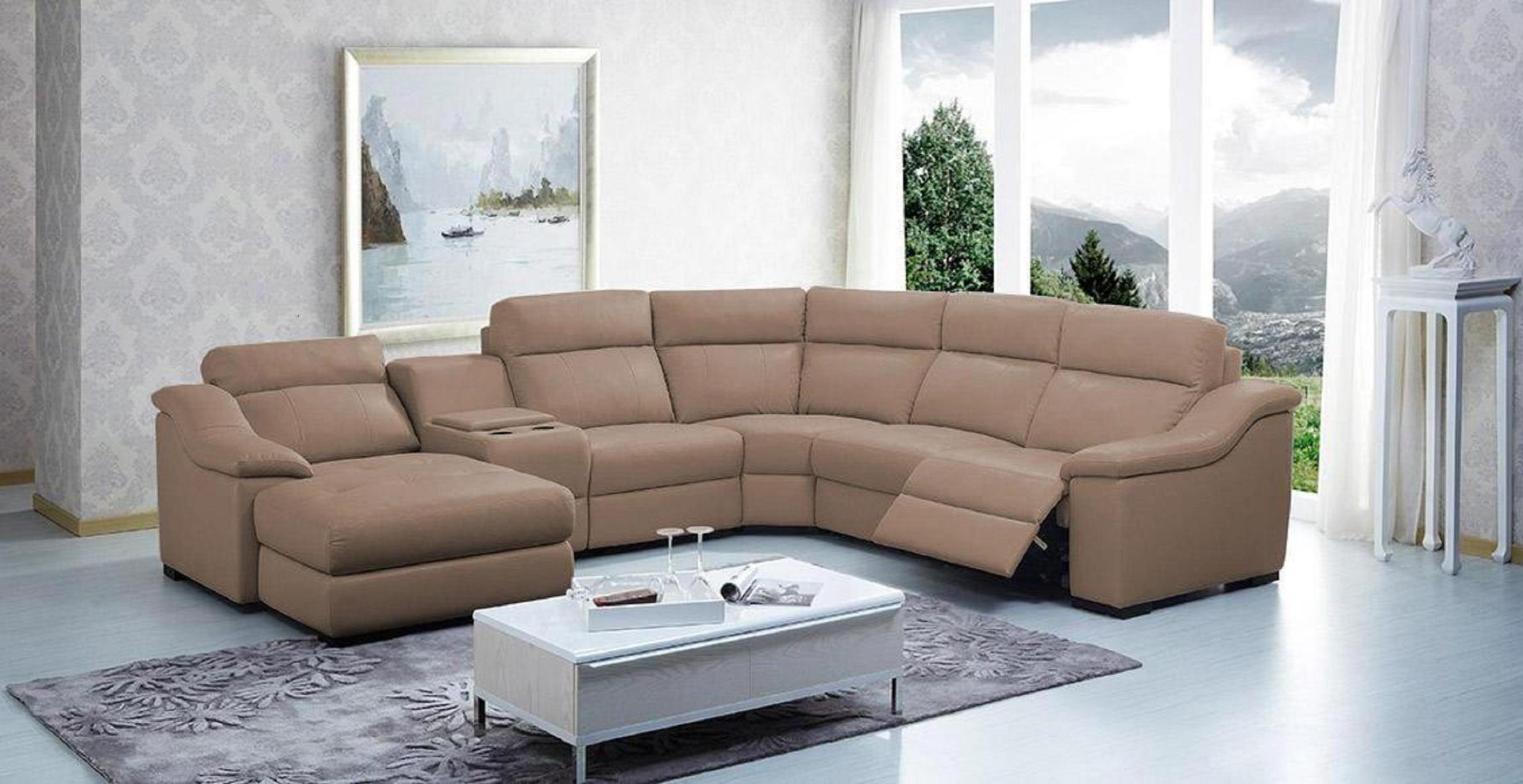 Image of: Microfiber Sectional Sofas With Recliners