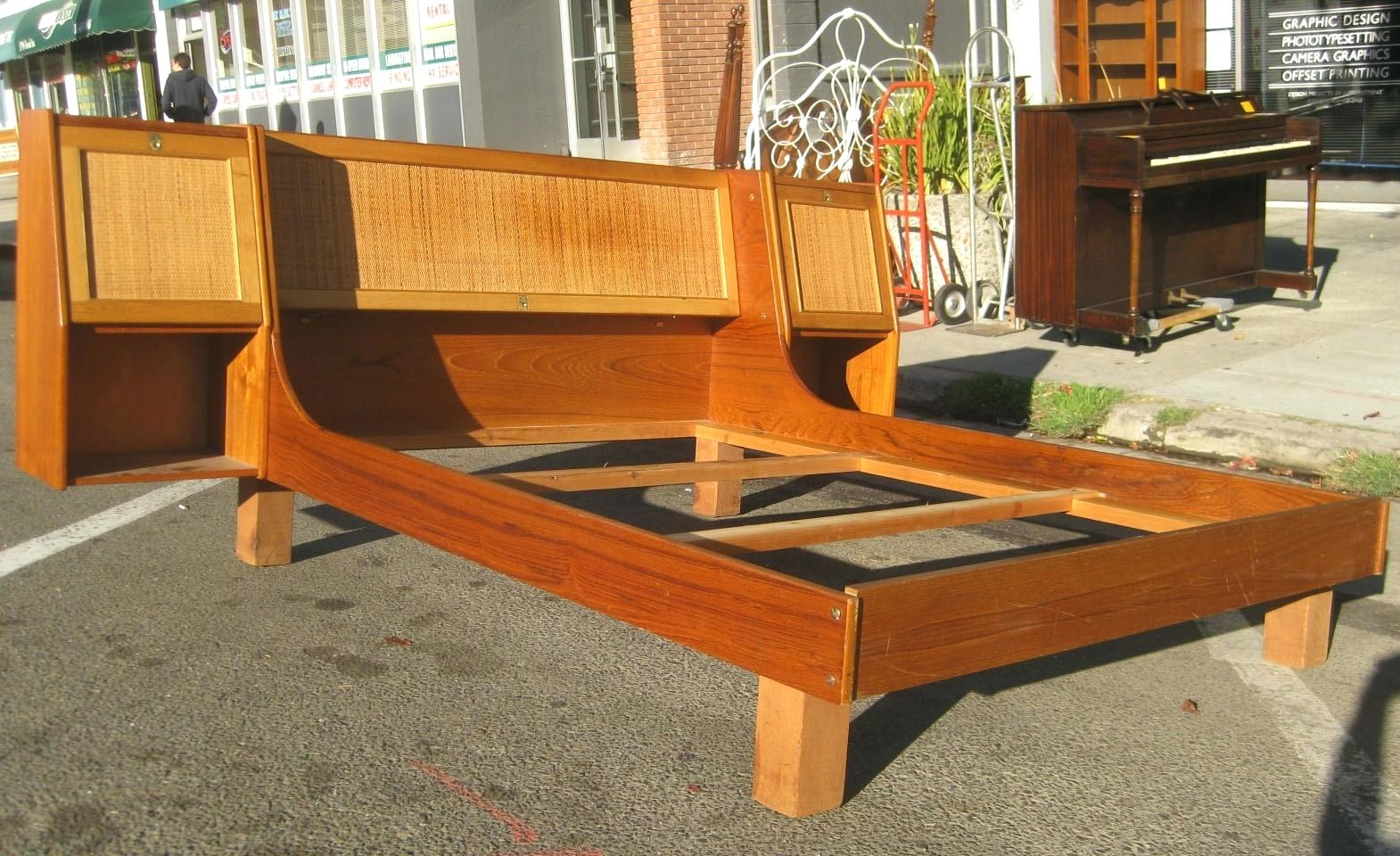 Image of: Mid Century Bed Frame Plans