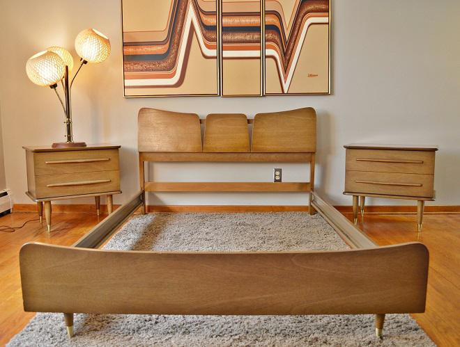Image of: Mid Century Modern Bed Frame Legs