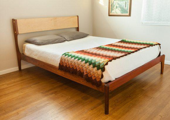 Image of: Mid Century Modern Bed Frame