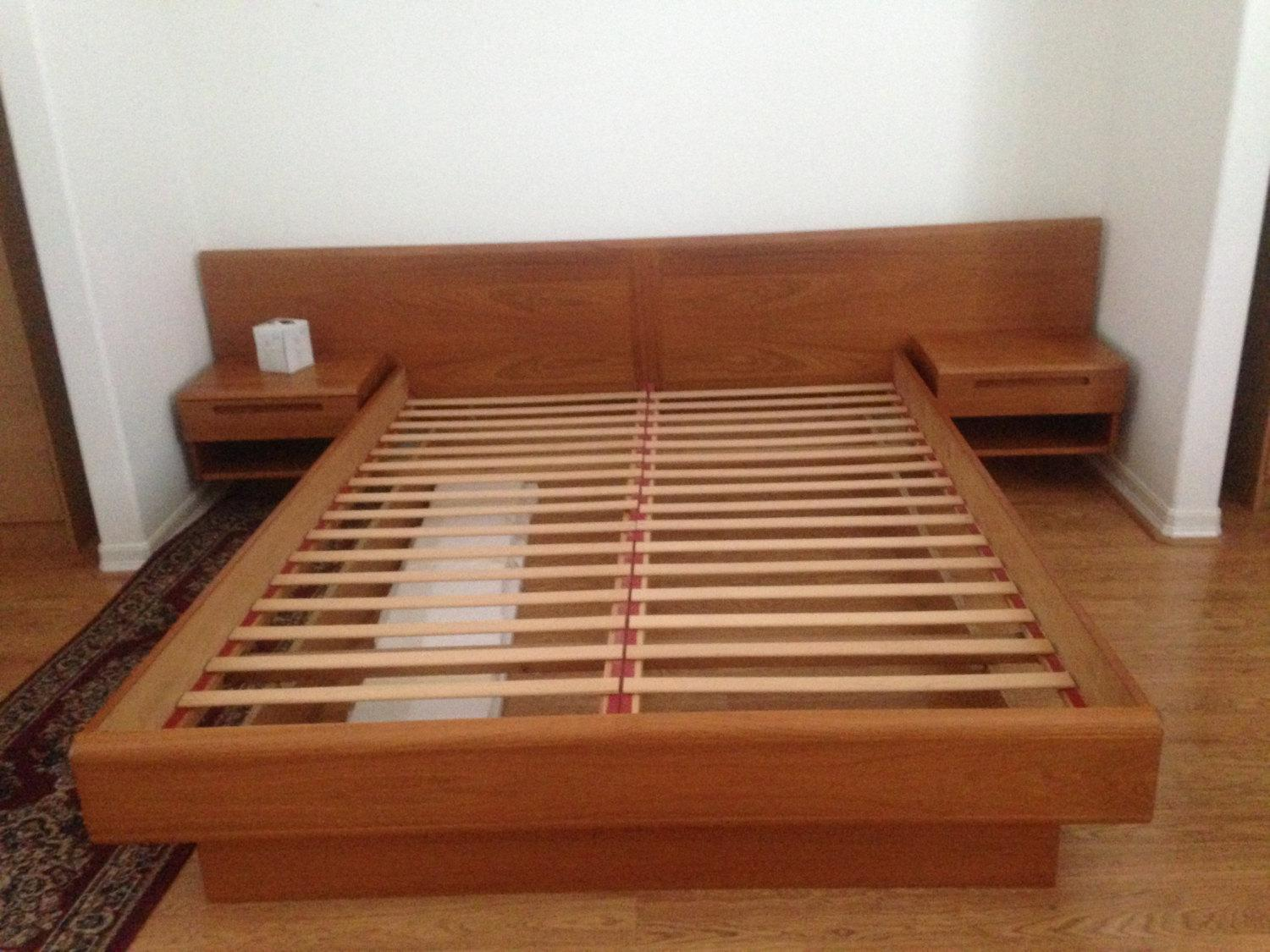 Image of: Mid Century Modern Double Bed Frame