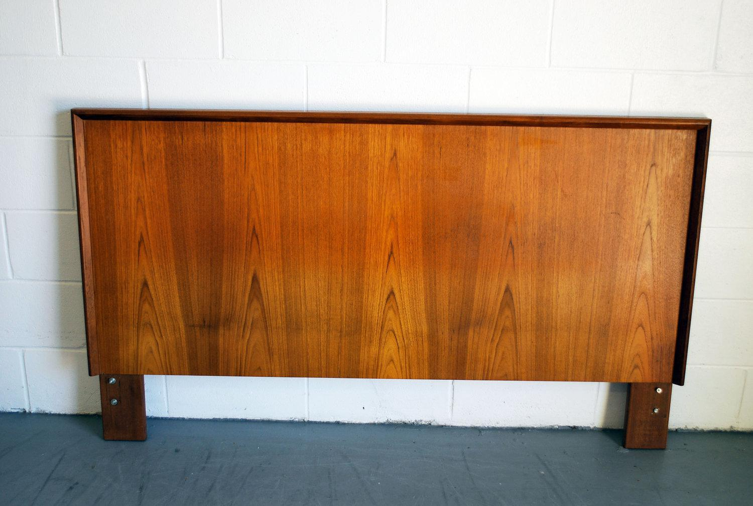 Image of: Mid Century Modern Wood Bed Frame