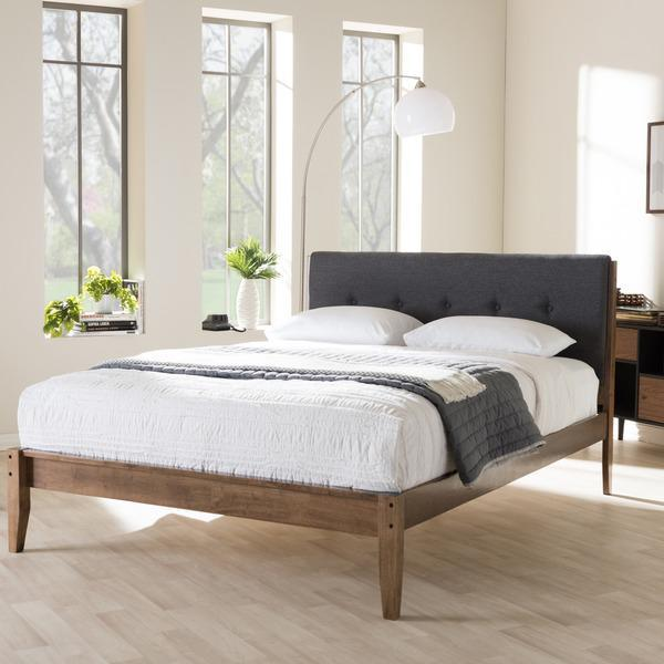 Image of: Mid Century Queen Bed
