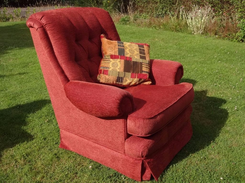 mid century upholstered arm chair