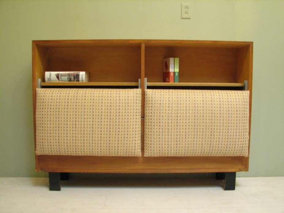 Image of: Mid century modern bookcase with doors