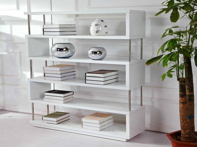 Image of: Minimalist and Modern White Bookcase