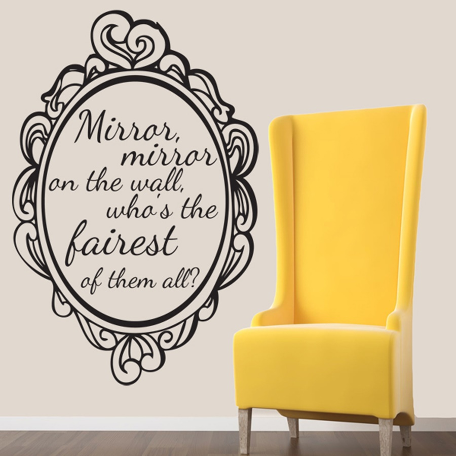 Image of: Mirror Mirror On The Wall Quote Design