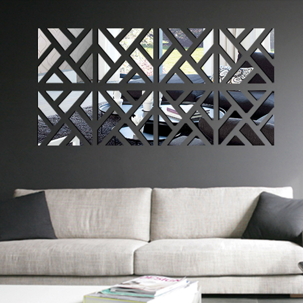 Image of: Mirror Wall Art Living