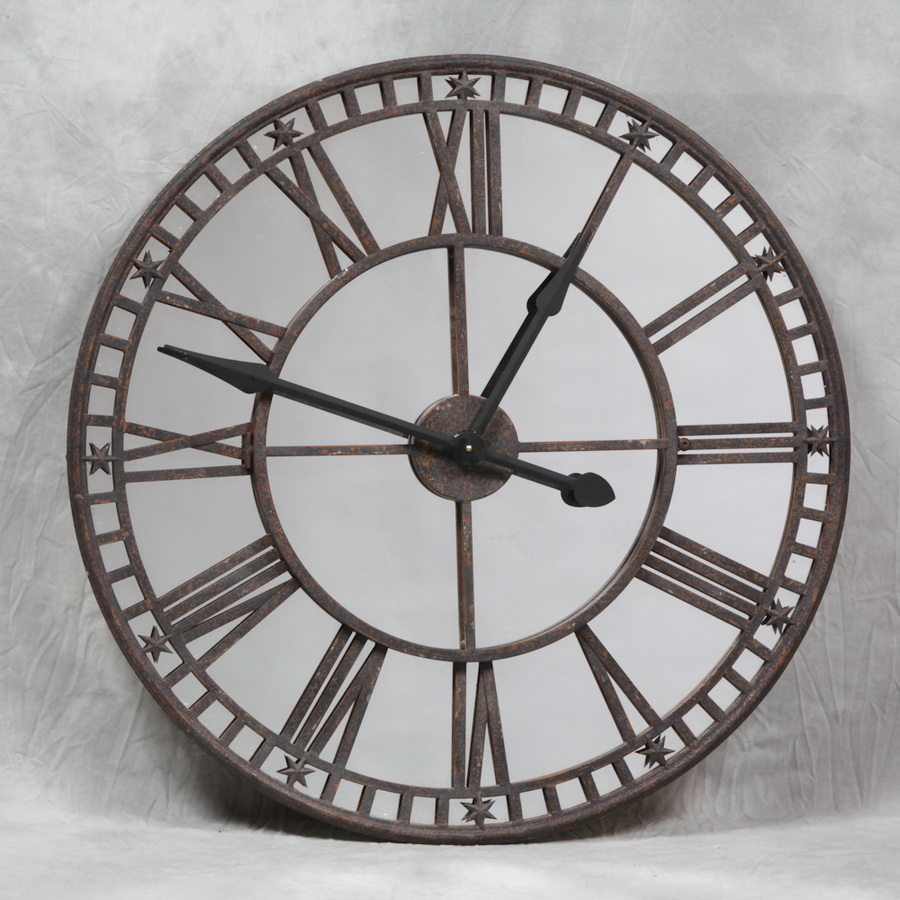 Image of: Mirror Wall Clock Antique