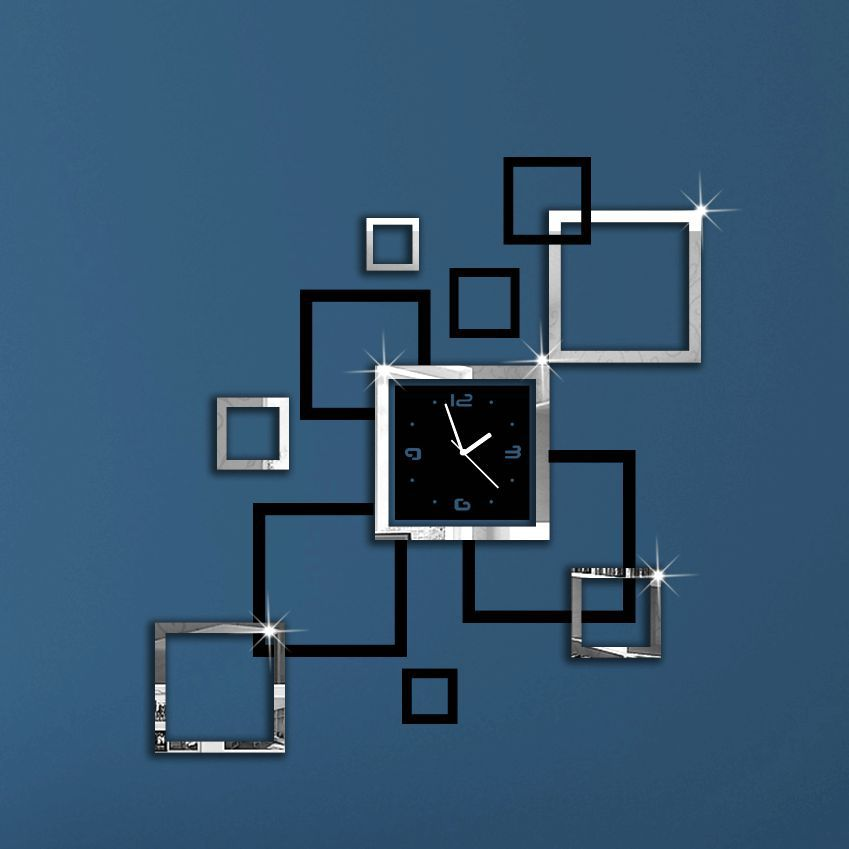 Image of: Mirror Wall Clock Design