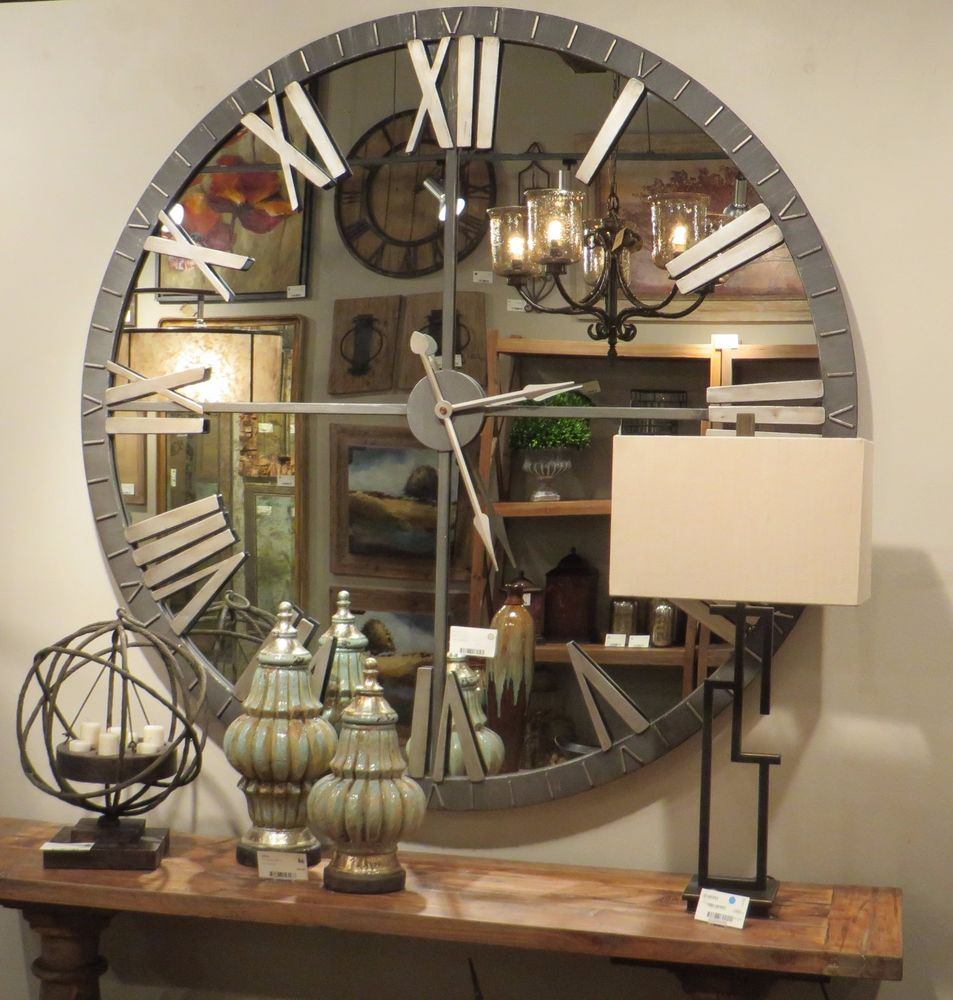 Image of: Mirror Wall Clock Elegant