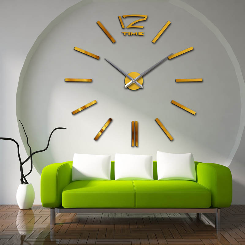 Image of: Mirror Wall Clock Large