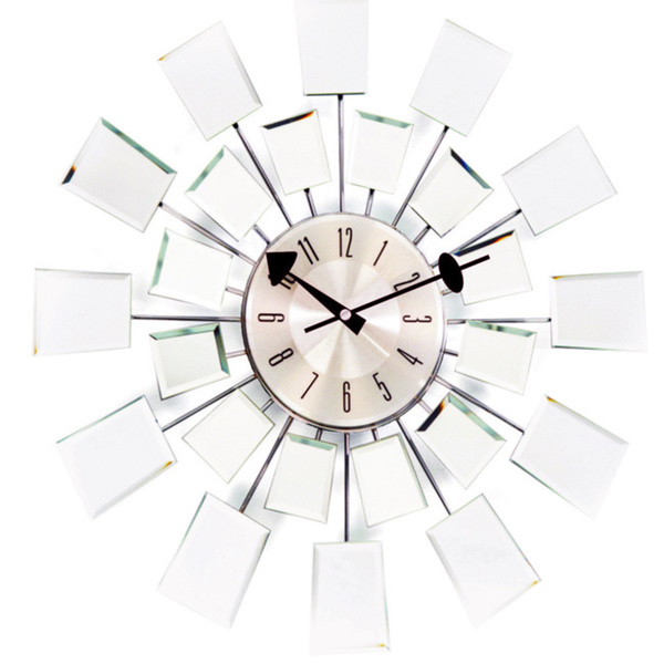 Image of: Mirror Wall Clock Modern