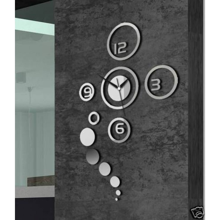 Image of: Mirror Wall Clock Set