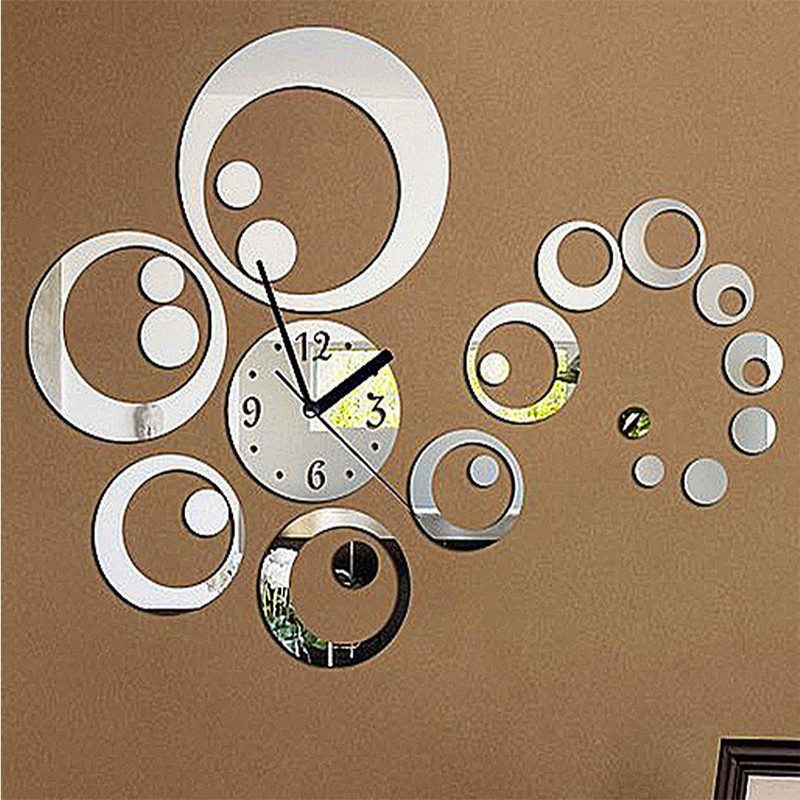 Image of: Mirror Wall Clock Suppliers