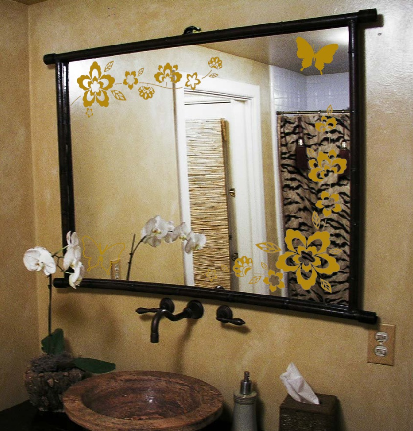 Image of: Mirror Wall Decals Bathroom