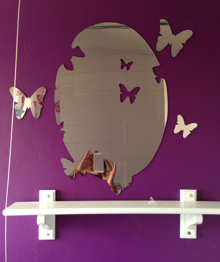 Image of: Mirror Wall Decals Bird