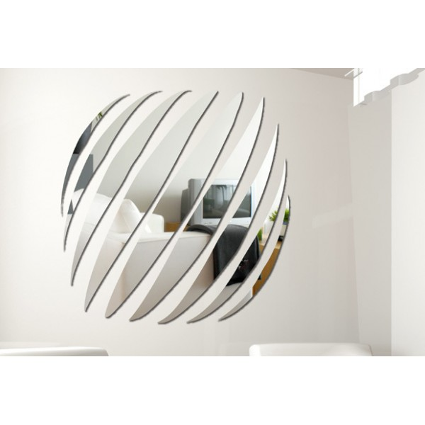 Image of: Mirror Wall Decals Circles