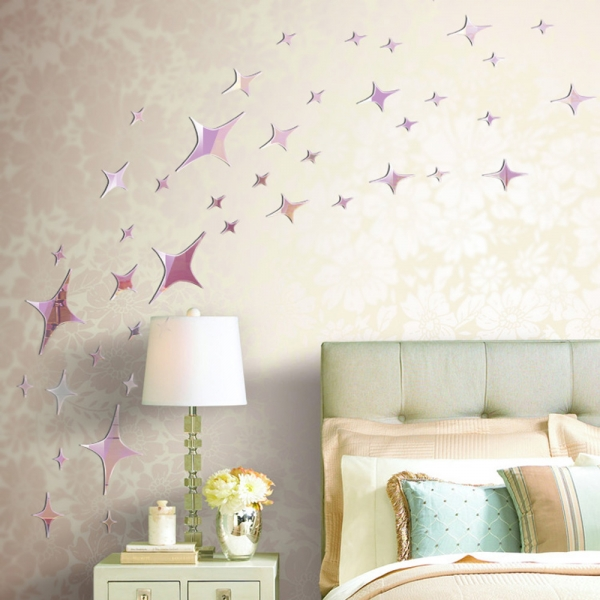 Image of: Mirror Wall Decals DIY