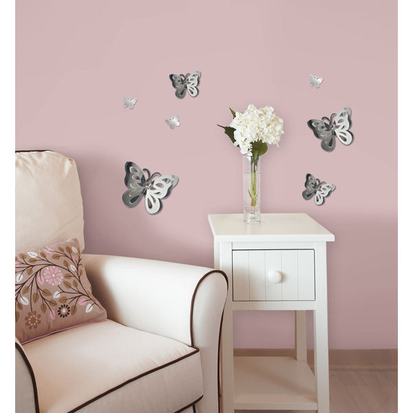Image of: Mirror Wall Decals Girly