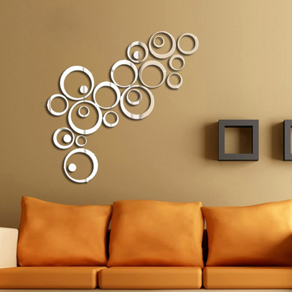 Image of: Mirror Wall Decals Living Roo