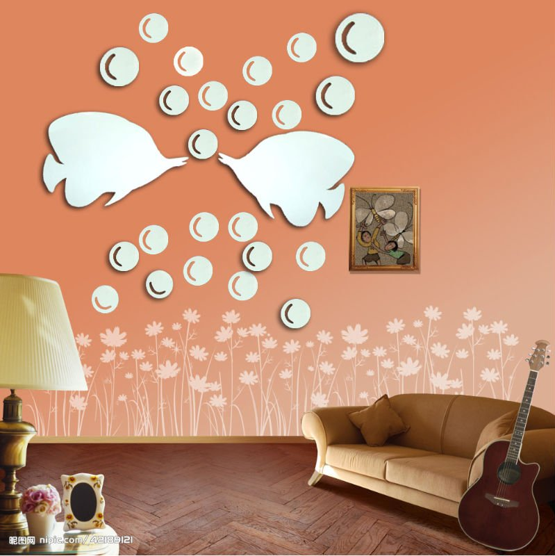 Image of: Mirror Wall Decals Modern