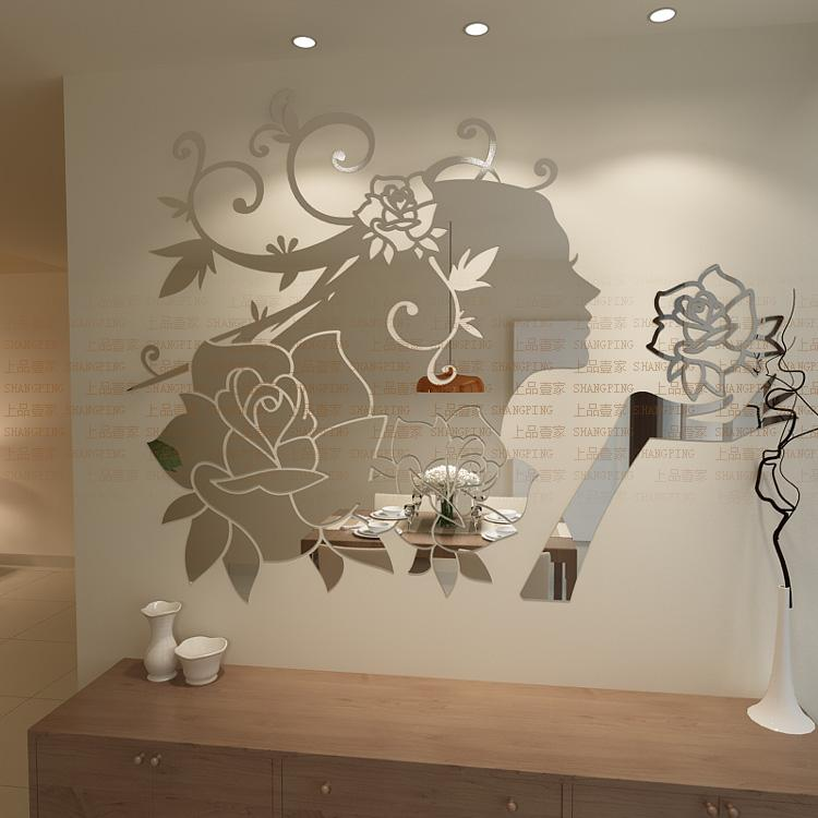 Image of: Mirror Wall Decals and Wall Stickers