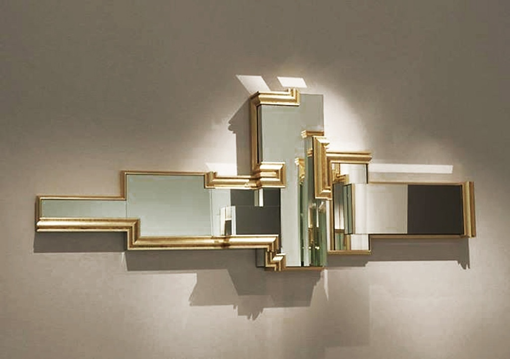 Image of: Mirror Wall Sculpture Art Swan