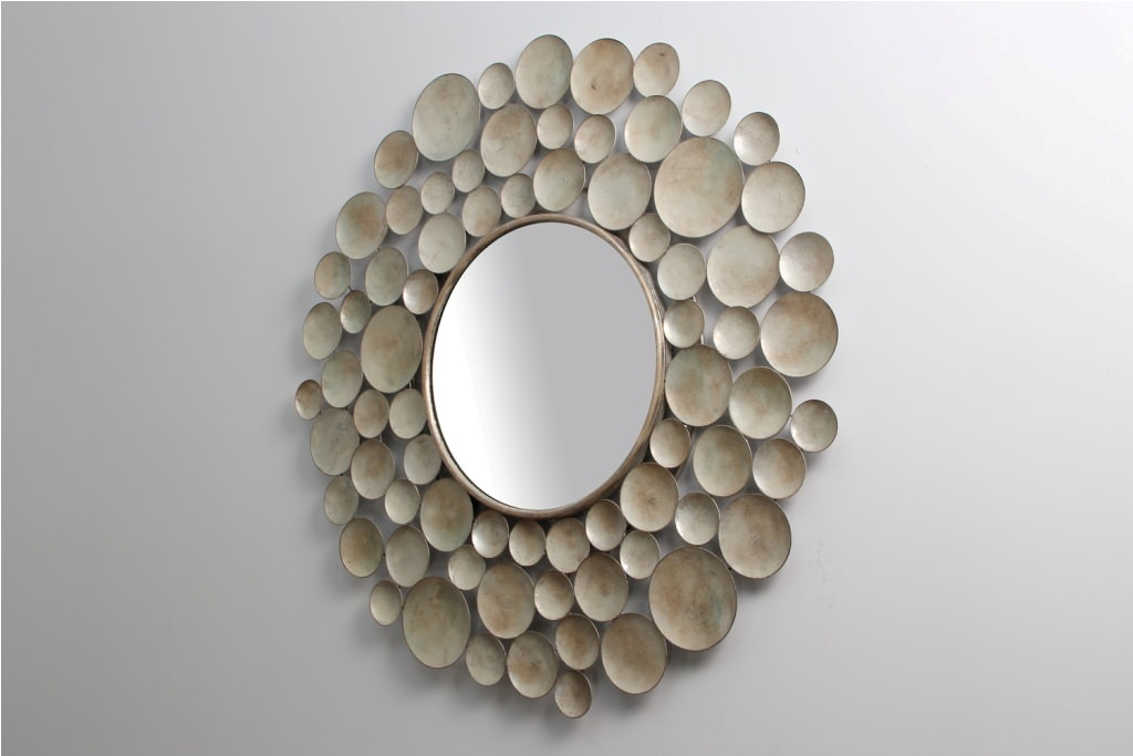 Image of: Mirror Wall Sculpture Decor