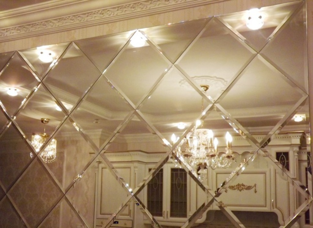 Image of: Mirror Wall Tiles 12×12