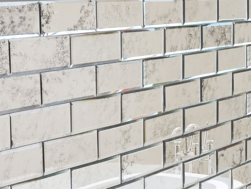 Image of: Mirror Wall Tiles Ideas