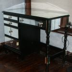 Mirrored Vanity Desk Black