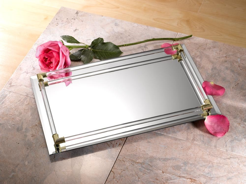 Image of: Mirrored Vanity Tray Plan