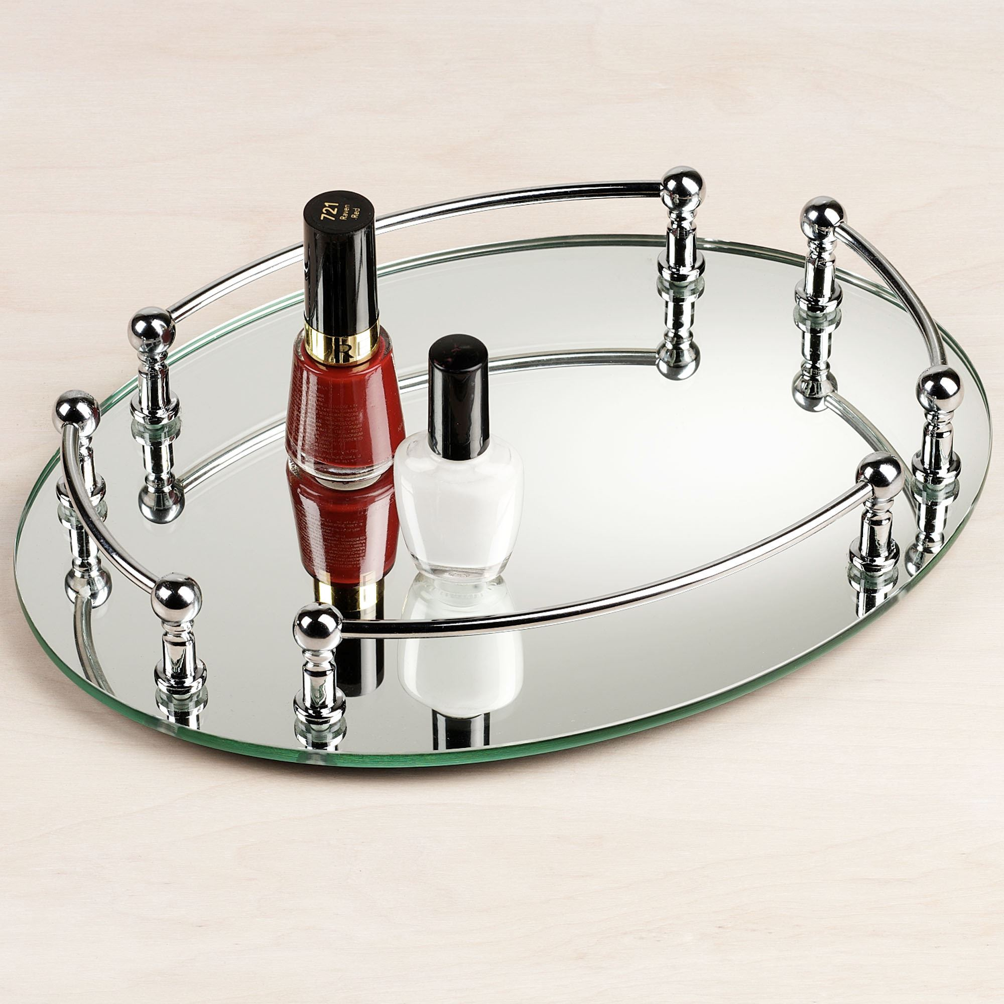 Image of: Mirrored Vanity Tray Style