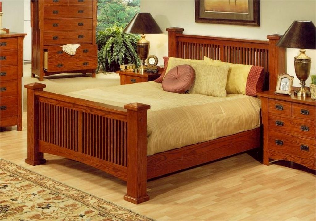 Image of: Mission Style Bedroom Furniture King
