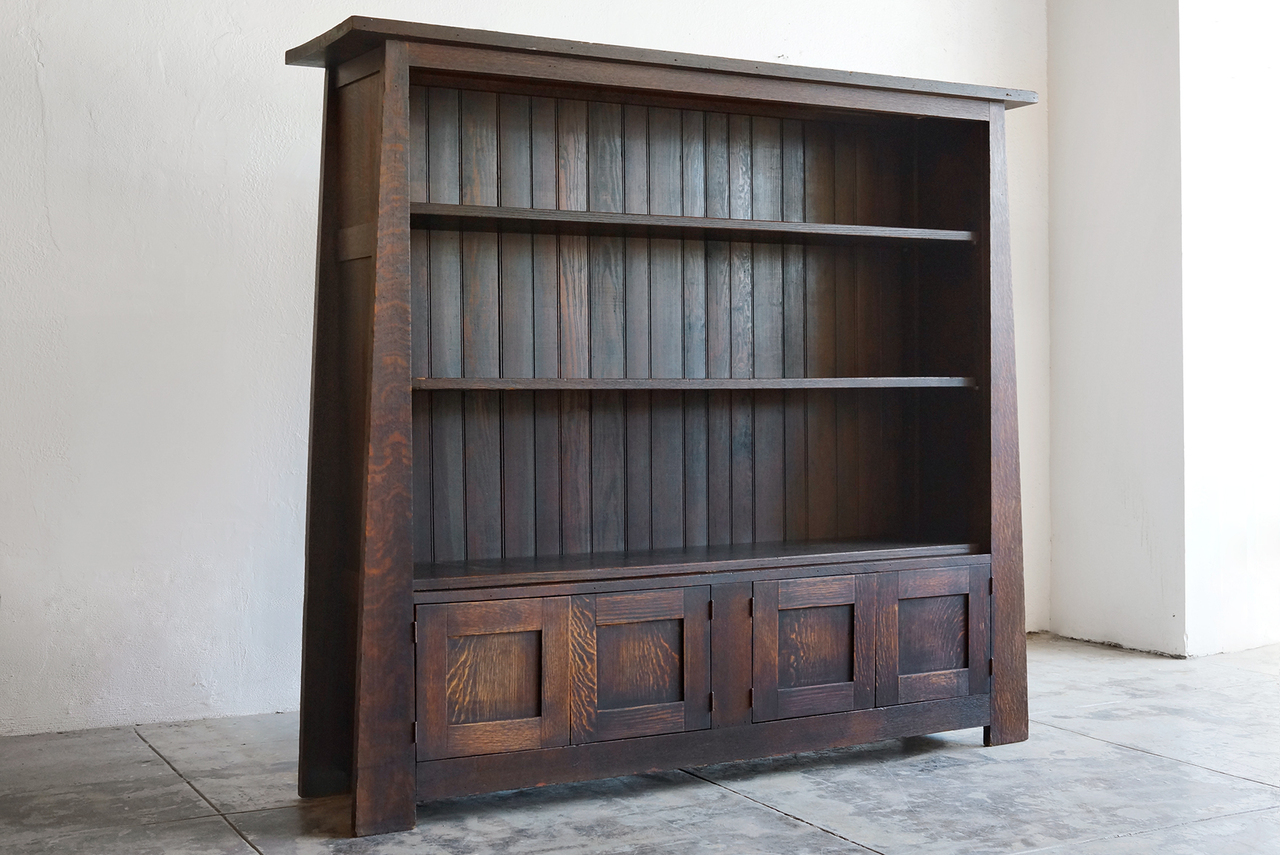 Image of: Mission Style Bookcase Design