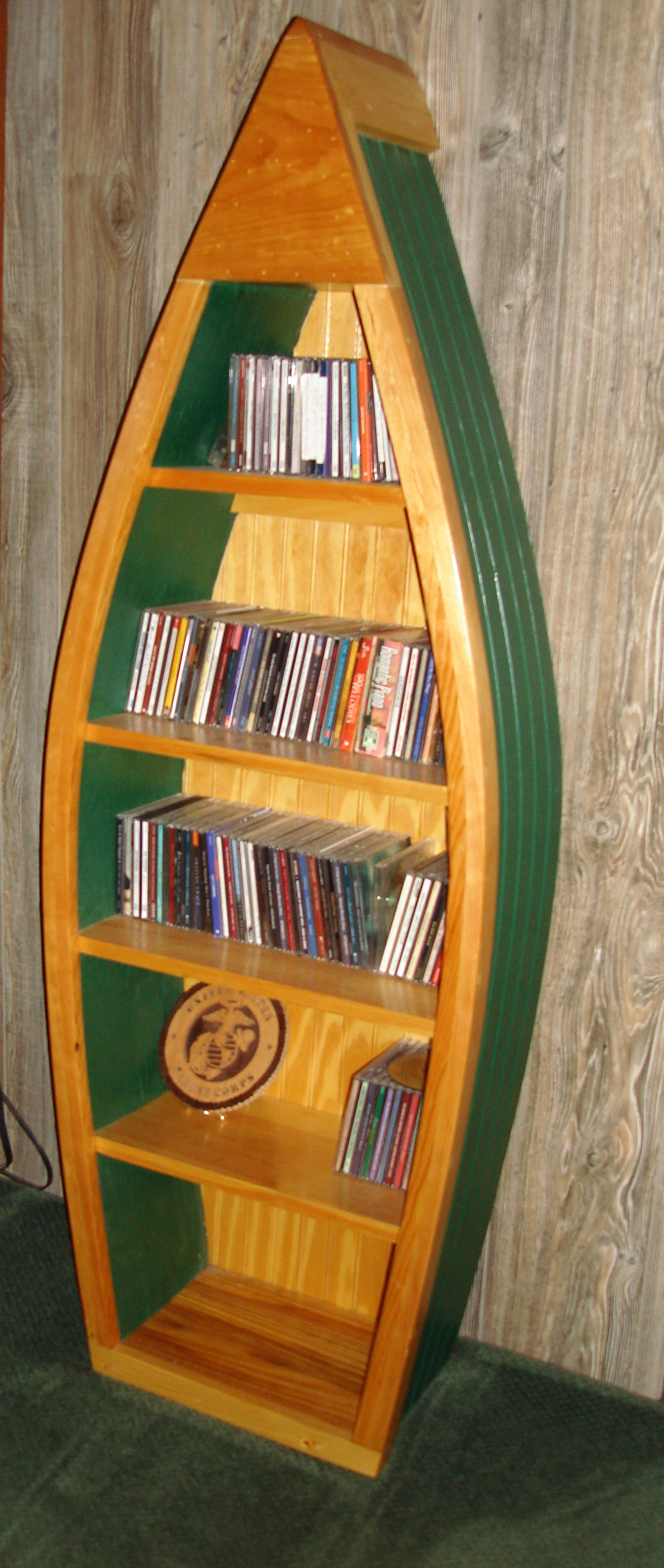 Image of: Model of Boat Bookcase