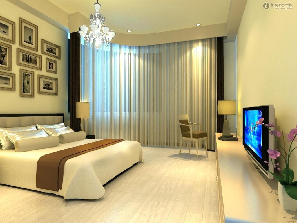 Image of: The Modern Bedroom Curtains Ideas