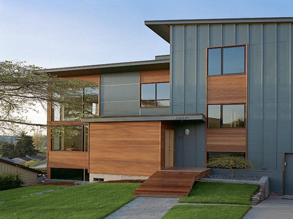 modern board and batten siding