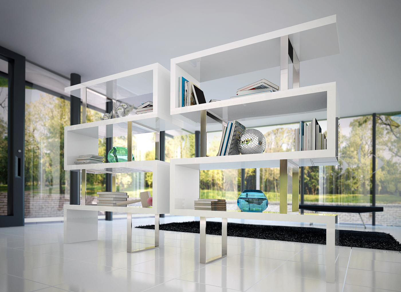 Image of: Modern Bookcase Style