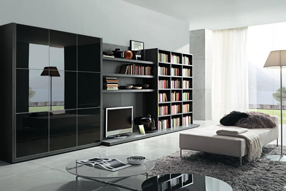Image of: Modern Bookcase TV Stand