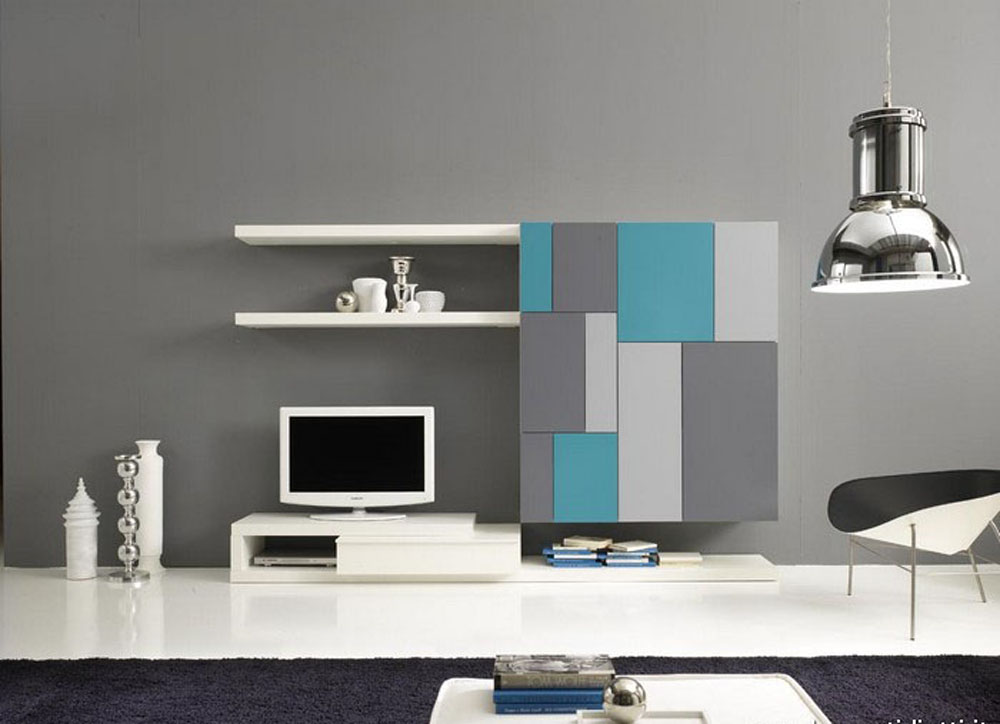 Image of: Modern Bookcase Wall